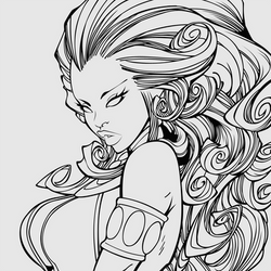 Starfire - Lineart by DanEXP
