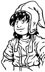 Doing some Brush Inking... Dragon Quest 7 Hero