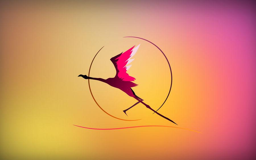 Gaia - Flamingo Sunset by Golden-Ribbon