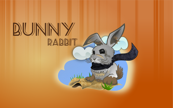 Bunny sit by Golden-Ribbon
