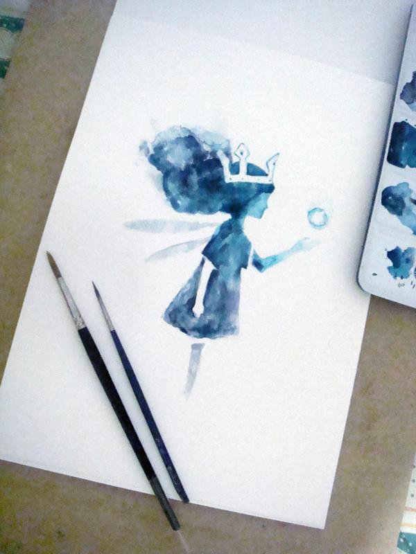 Child of Light Aurora watercolour by Lady-Vudu-doll