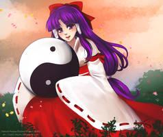 Touhou Challenge #3 - Hakurei Reimu [PC98 Ver.] by Cryptic-Mystic