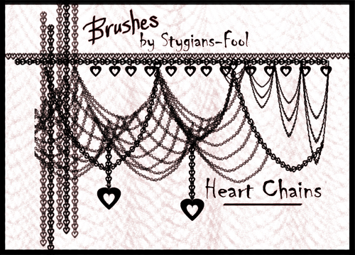 Heart Chain Brushes STOCK by stygians-fool-stock on DeviantArt
