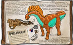 Ark Fan Made Dossier Amargasaurus!