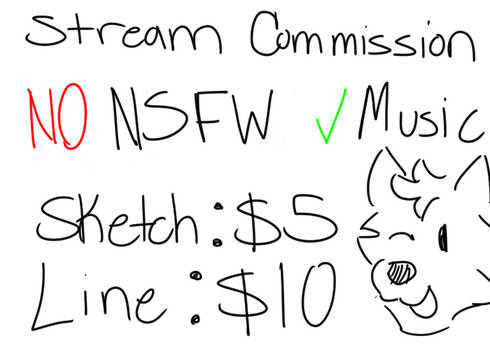 LiveStream Commissions (Points Accepted)