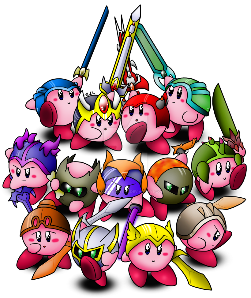 Terraria - Kirby in all Armour by Assassin--Knight