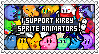 [Stamp] I support Kirby sprite animators by Assassin--Knight
