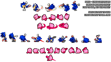 Sonic - Kirby Sprites Conversion by AssassinKnight-47