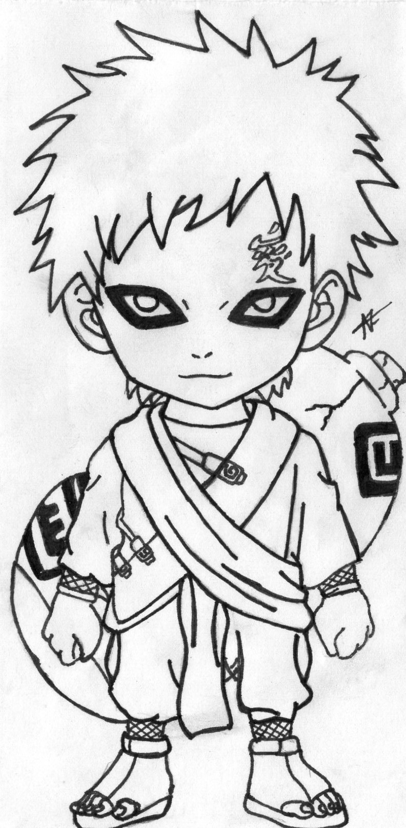 gaara coloring pages - photo#39