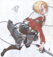 Attack on titan- Annie Leonhardt by thesexychurro