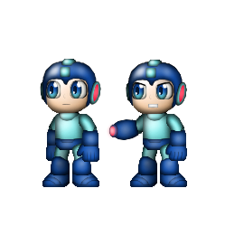 Adventure Megaman (And Attack Mode Megaman) by cihlen