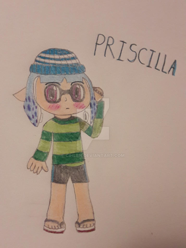 My new Splatoon OC Priscilla by cihlen