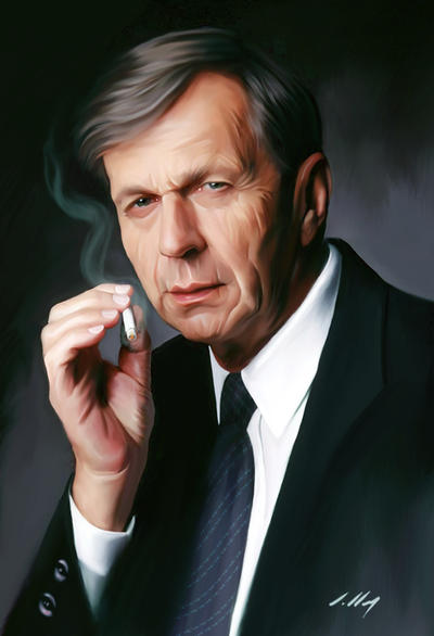 The Smoking Man by axlsalles