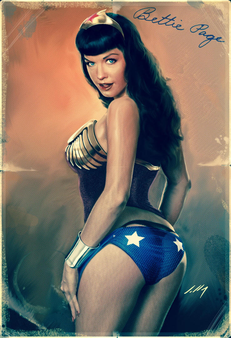Bettie Page as Wonder Woman 2017 by axlsalles