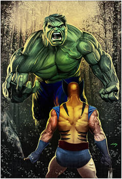 Hulk Vs Wolverine - Commission 2017