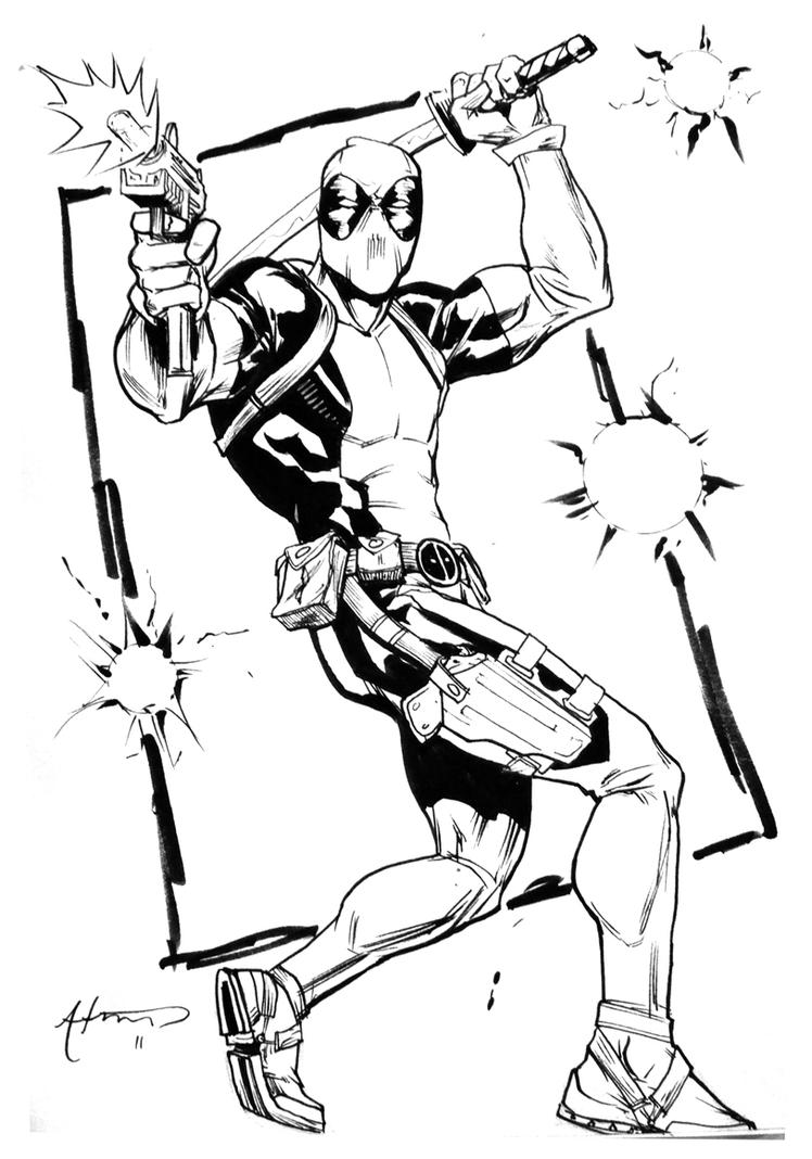 Drawing Red Lines With Green Ink : C e deadpool by brianatkins on deviantart