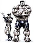 Hulk Wolverine Homage Cover
