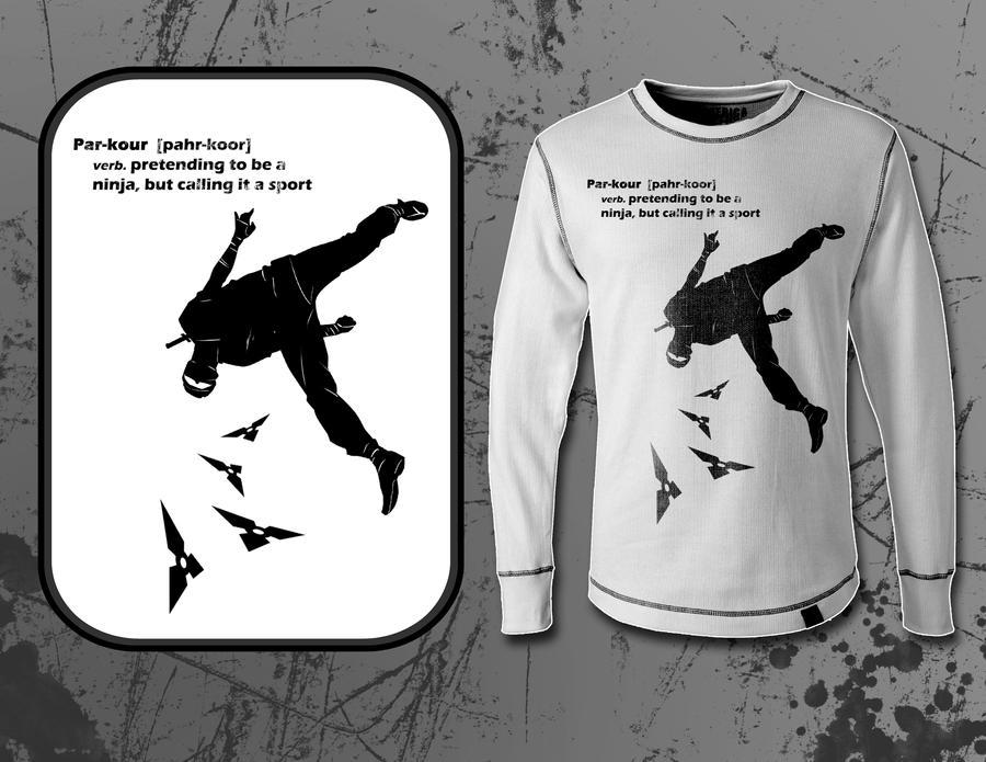 Parkour Shirt Design by BrianAtkins