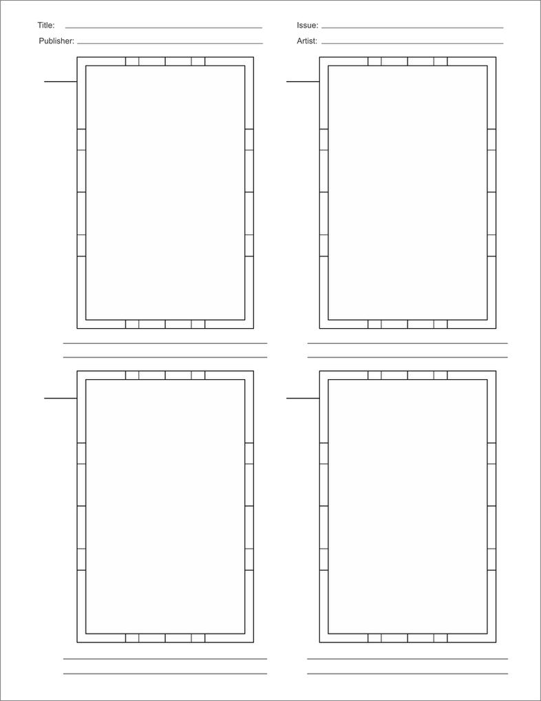 comic book script template - comic book layout template by brianatkins on deviantart