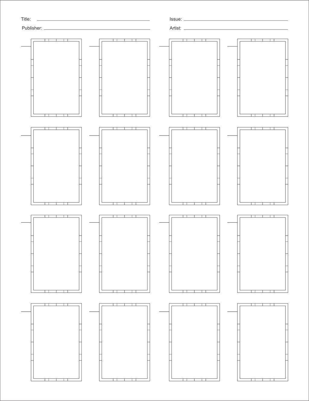 Comic Book Character Design Template : Comic book thumbnail template by brianatkins on deviantart