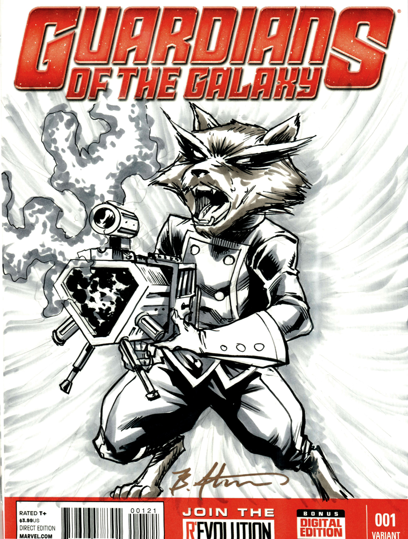 Rocket Raccoon Cover Sketch by BrianAtkins on DeviantArt