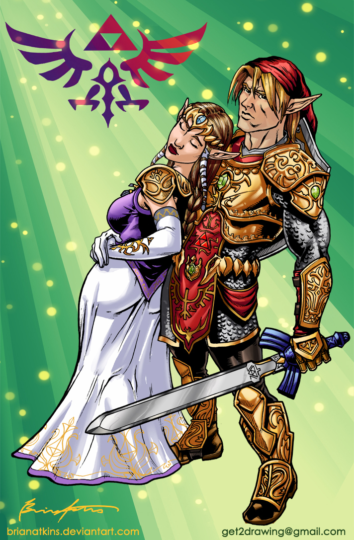link and zelda from twilight princess by brianatkins