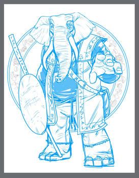 Loxodon Druid sketch