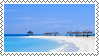 tropical beach stamp by bulletblend