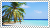 tropical beach stamp 2 by bulletblend