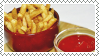 fries and ketchup stamp by bulletblend