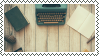 typewriter stamp by bulletblend