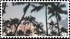palm trees stamp