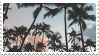 palm trees stamp by bulletblend