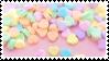 love hearts stamp