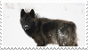 black wolf stamp by bulletblend