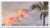 clouds + palm tree stamp by bulletblend