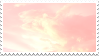 pink clouds stamp