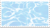 blue water stamp