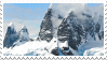 snowy mountains stamp by bulletblend