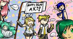 Happy Birthday Aki 8D by Joyfulldreams