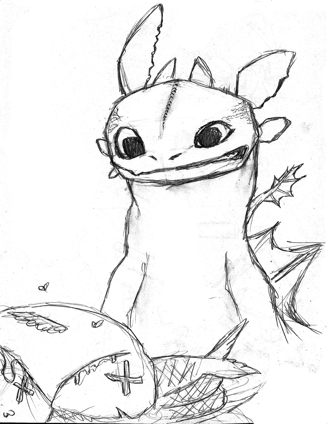 dragon toothless sketch by hyun18 on deviantart