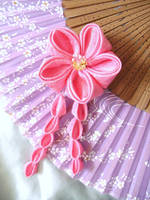 Ume blossom kanzashi by elblack