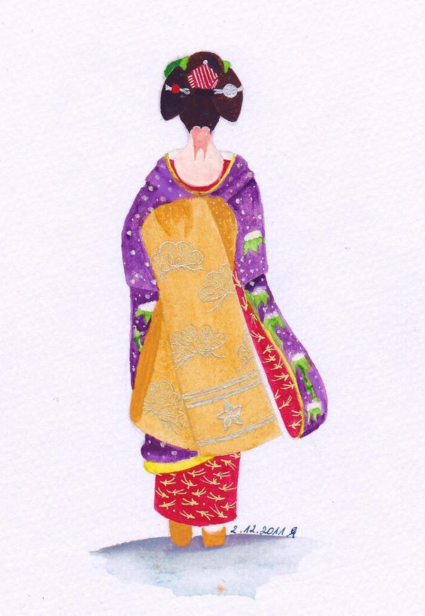 Fuyu maiko by elblack