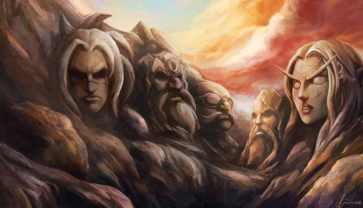 Rushmore Azeroth Memorial by linxz2010