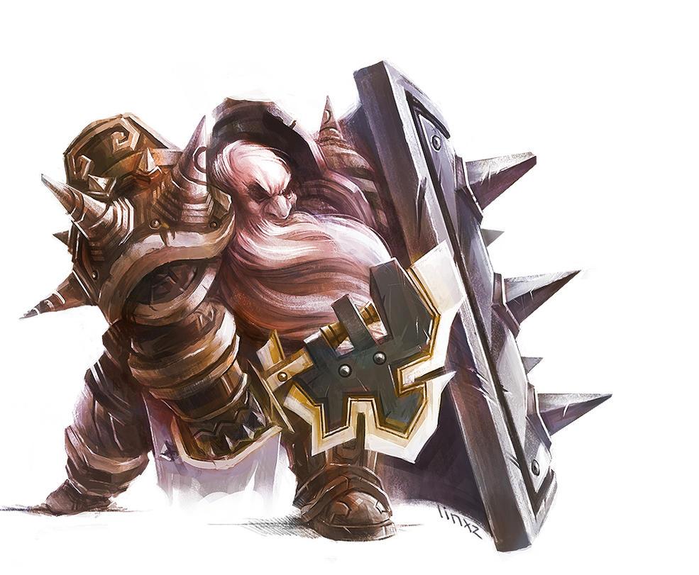 dwarf warrior by linxz2010