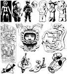 Pre-Columbian astronauts