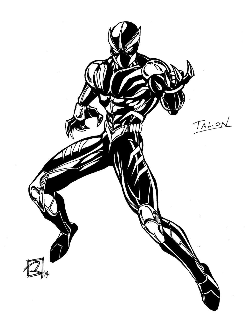 Step by Step Illo: Talon 4 by CrispBoxery