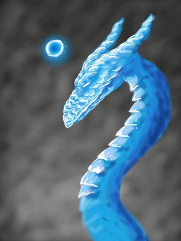 Ice Dragon Orb by TwinBeastC