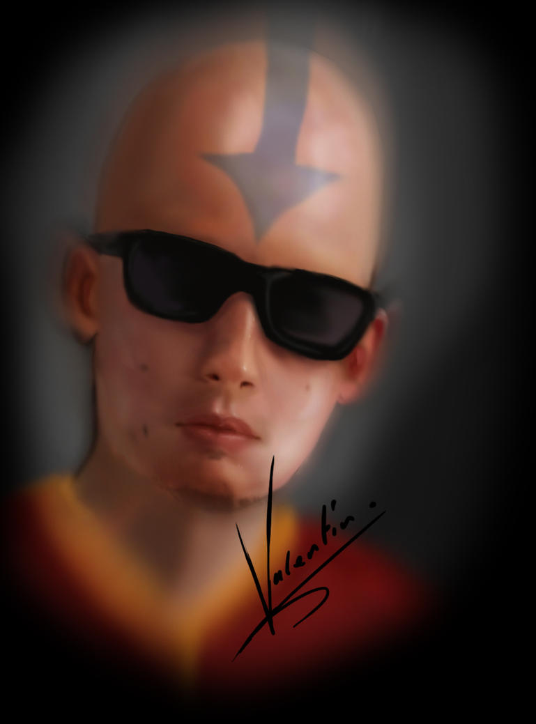 My face as an airbender. by ArtPsychosis