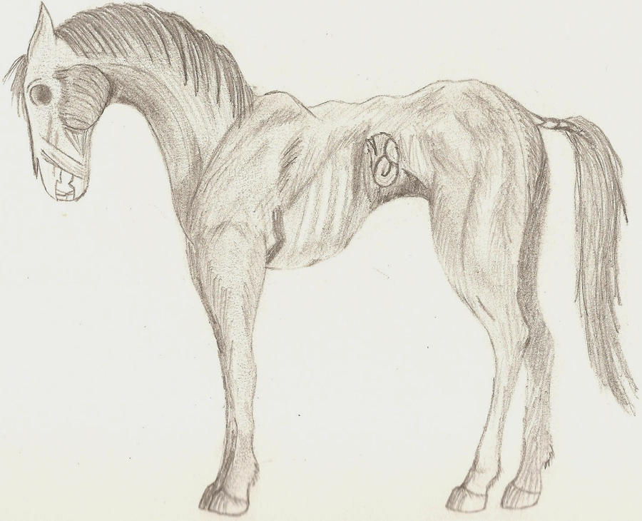 Zombie Horse by FangTh...